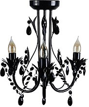 Contemporary Gloss Black Shabby Chic 3 Way Ceiling