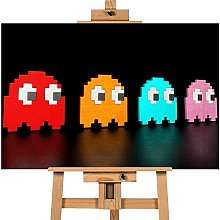 Contemporary modern pacman ghosts 40x30 inches |
