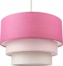 Contemporary Round Triple Tier Soft Pink Cotton