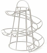 Contemporary White Helter Skelter Wire Round Egg