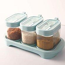 Contiup - Glass Spice Container Seasoning Box Set