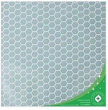 Contour Hexagon Lattice Anti-Bacterial Wallpaper