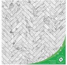 Contour Marble Chevron Anti-Bacterial Wallpaper