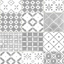 Contour Porches Grey Tile Wallpaper