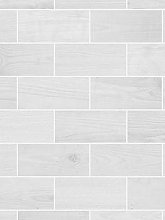 Contour Wooden Grey Tile Wallpaper