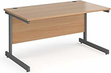 Contract 25 straight desk with graphite cantilever