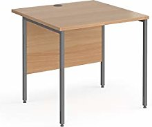 Contract 25 straight desk with graphite H-Frame