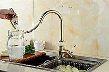 Convenient European Jade Copper Pull Faucet Copper