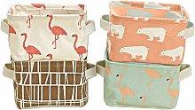 Convenient Storage Box Linen Fabric Drawer Basket