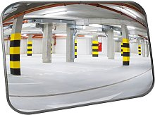 Convex safety mirror for security signaling