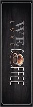 Cook & Clean 103833 Love Coffee Anthracite Runner