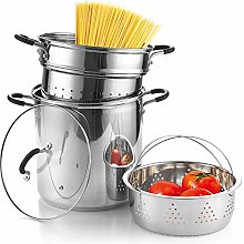 Cook N Home 02654 Multipots Steamer, Stainless