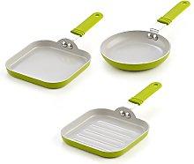 Cook N Home 5.5-Inch Nonstick Ceramic Mini Fry,