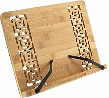 Cookbook Holder Bamboo Book Stand 11x7.9inch