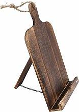 Cookbook Holder, Cutting Board Wood Recipe Book