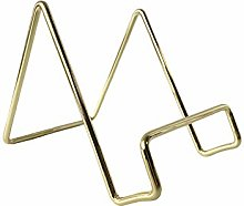 Cookbook holder stand for kitchen counter (1, Gold)