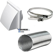 Cooker Hood Wall Ventilation Duct Cowled Grille