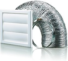 Cooker Hood Wall Ventilation Duct Gravity Flap