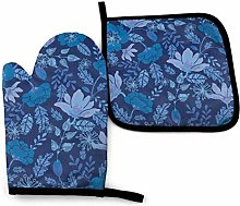 Cooking Gloves and Potholders,Dark Night Magnolia