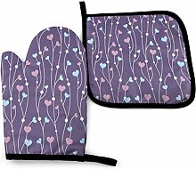 Cooking Gloves and Potholders,Geometric Hearts