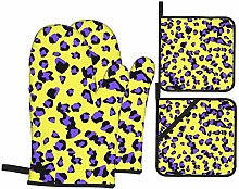 Cooking Gloves and Potholders,Leopard Purple
