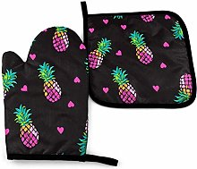 Cooking Gloves and Potholders,Pink Hearts