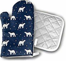 Cooking Gloves and Potholders,Polar Bear Dark Navy