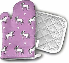 Cooking Gloves and Potholders,Purple Girls Cute