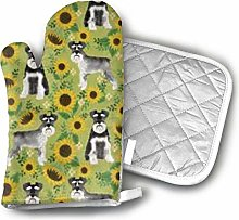 Cooking Gloves and Potholders,Schnauzer Dog and