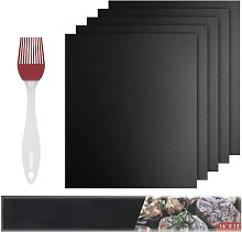 Cooking Mats, Set of 5 BBQ Cooking Mats Silicone