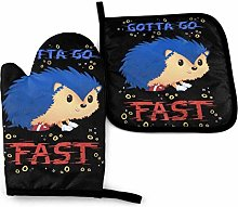 Cooking Mitts Set,Gotta Go Fast So-Nic The