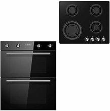 Cookology Black Built-under Double Oven & 60cm