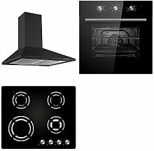 Cookology Black Electric Fan Forced Oven,