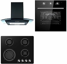 Cookology Black Electric Fan Oven, Ceramic &