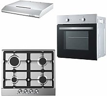 Cookology Fan Forced Oven, Stainless Steel &