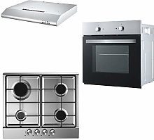 Cookology Fan Forced Oven, Stainless Steel Gas Hob