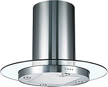 Cookology TUB900GL 90cm Round Glass & Stainless