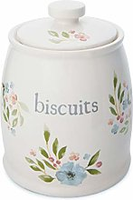 Cooksmart Country Floral Ceramic Biscuit Storage