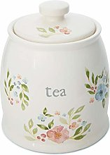Cooksmart Country Floral Ceramic Tea Storage