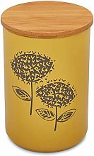Cooksmart Retro Meadow Large Canister, Mustard