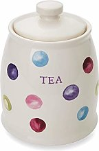 Cooksmart Spotty Dotty Ceramic Tea Canister