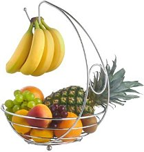 Cookspace ® Chrome Stylish Fruit Bowl Basket with