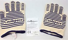 CookSpace (TM) Pair of Silicone Heat Flame Fire