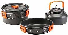 Cookware Sets 3Pcs Travel Hiking Cookware