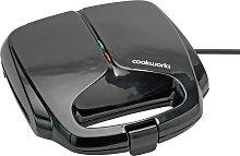 Cookworks 2 Portion Sandwich Toaster - Black
