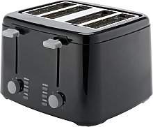 Cookworks 4 Slice Toaster - Black
