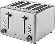 Cookworks 4 Slice Toaster - Brushed Stainless Steel