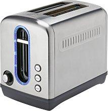Cookworks Illuminated 2 Slice Toaster - Brushed