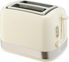 Cookworks Illuminated 2 Slice Toaster - Cream
