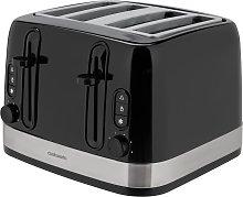 Cookworks Illuminated 4 Slice Toaster - Black